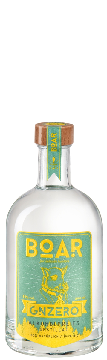 BOAR GZNERO - Alkoholfreier BOAR-Gin, 500 ml