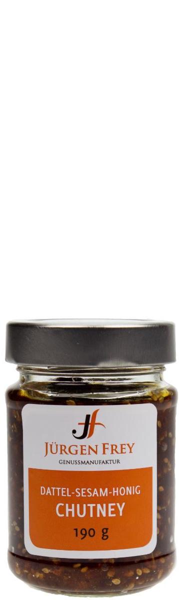 JÜRGEN FREY, Dattel-Sesam-Honig Chutney 190 g