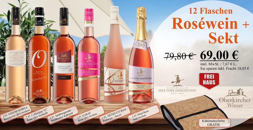 Aktionspaket Roséweine 12 Fl., -12 Flaschen -