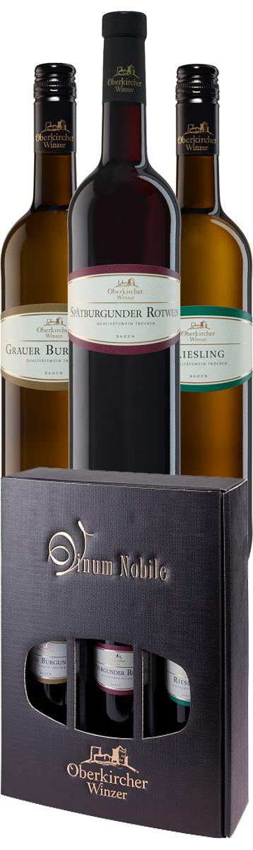 3er Präsent Vinum Nobile, Rotwein/Riesling/Grauer Burgunder