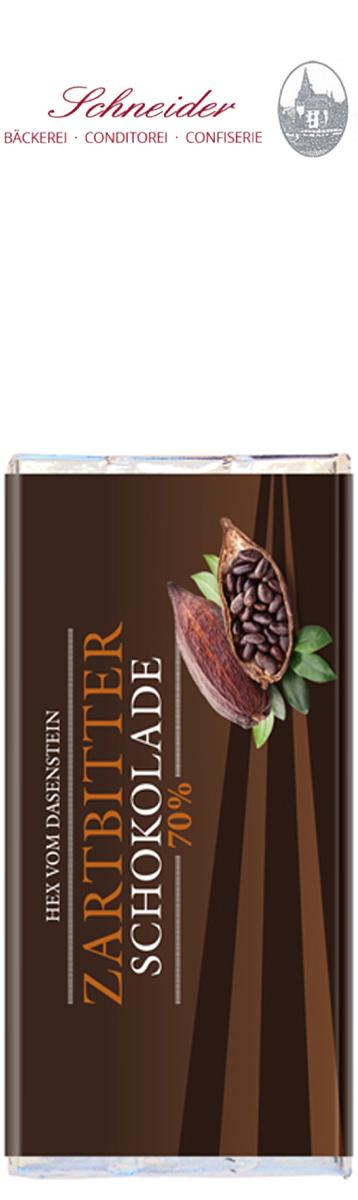 Zartbitterschokolade 70% Kakaoanteil, Hex vom Dasenstein