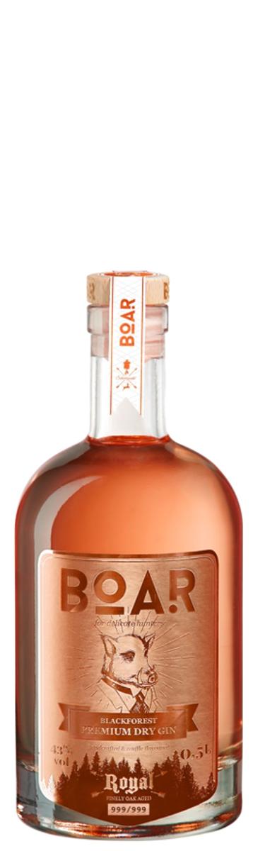 BOAR Blackforest ROYAL RUBIN Dry Gin, - im Barrique-Faß gereift - 43%vol.