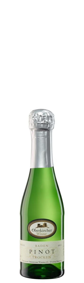 Oberkircher Sekt , Pinot Sekt weiß trocken - Piccolo-
