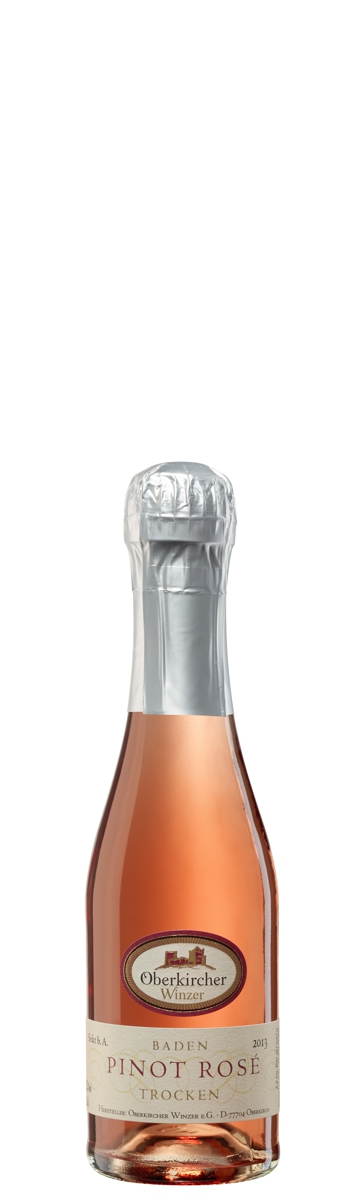 Oberkircher Sekt, Pinot Sekt Rosé trocken - Piccolo-